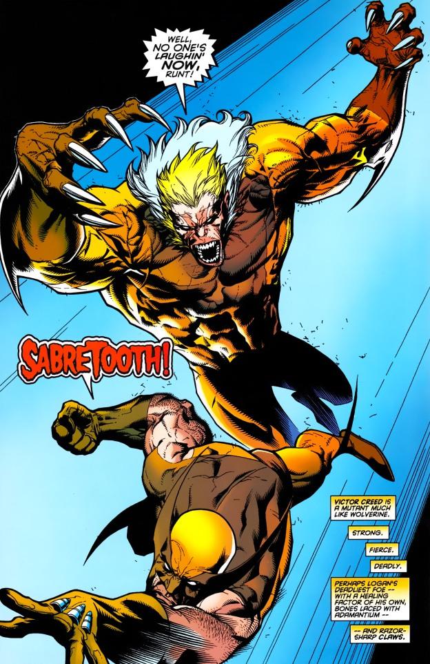 c4ebfdf98a6 Wolverine vs. Sabertooth (Wolverine gets his adamantium back)