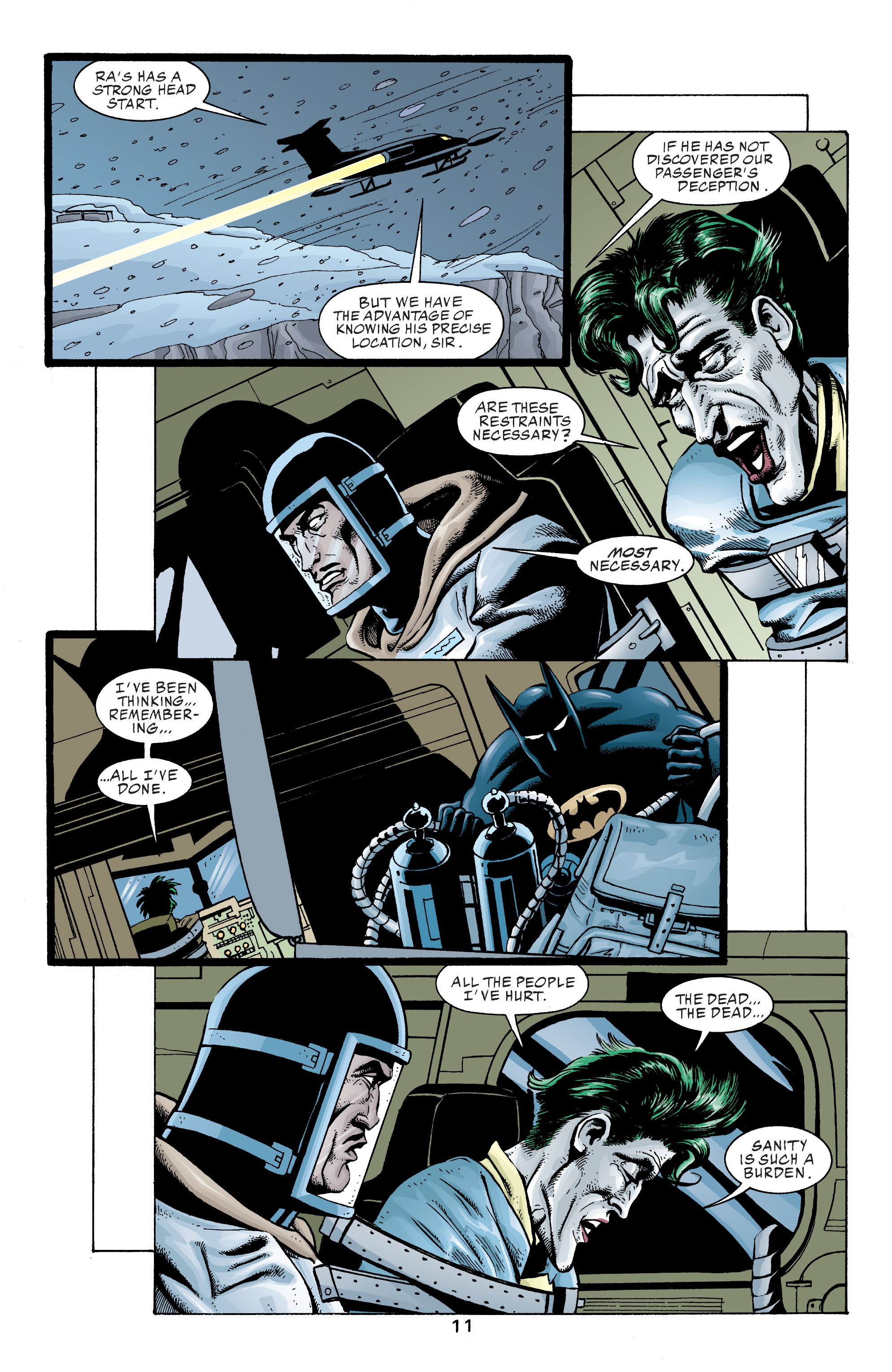 The Joker turns sane in the lazarus pit