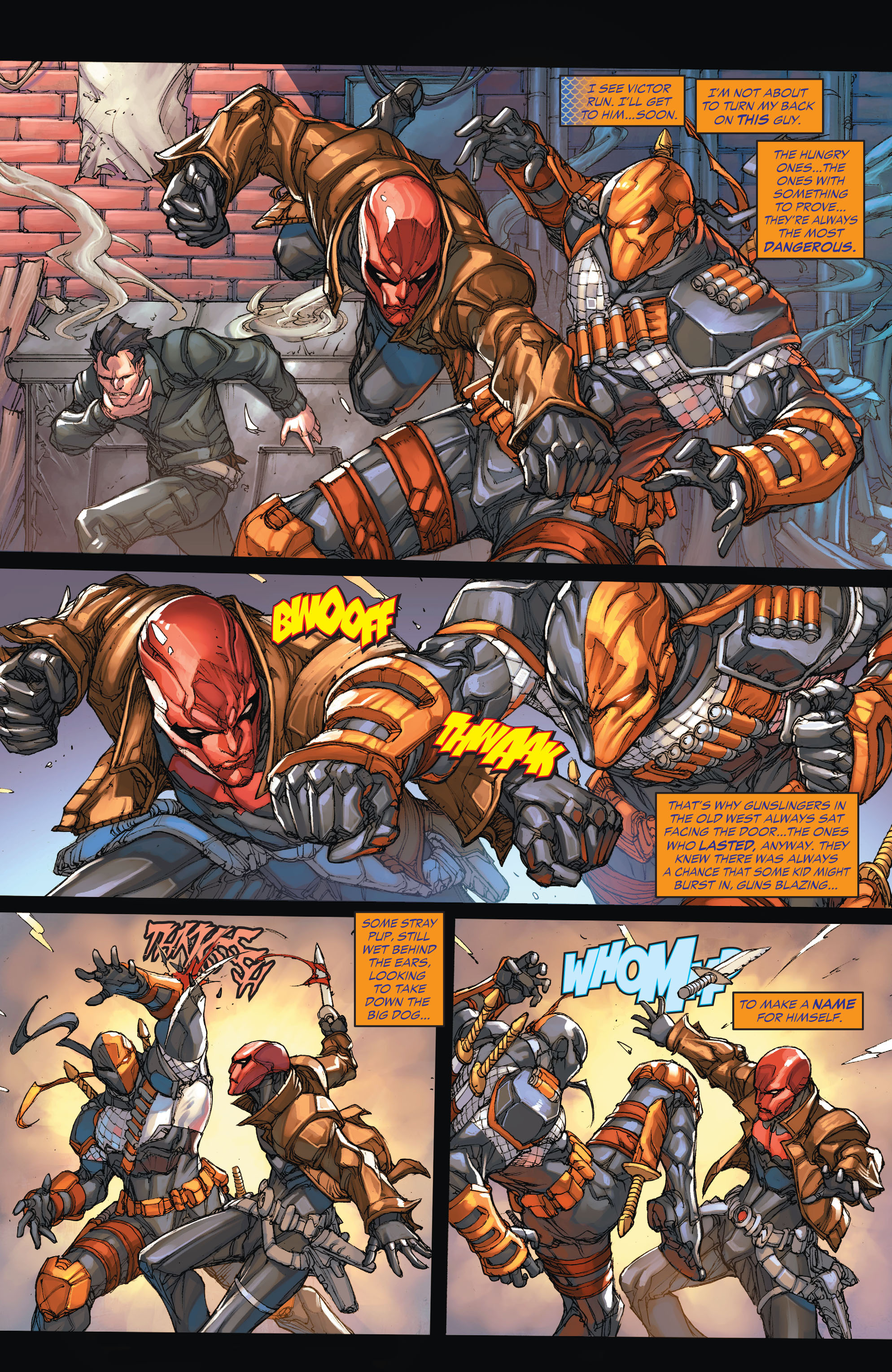 Deathstroke vs. Red Hood