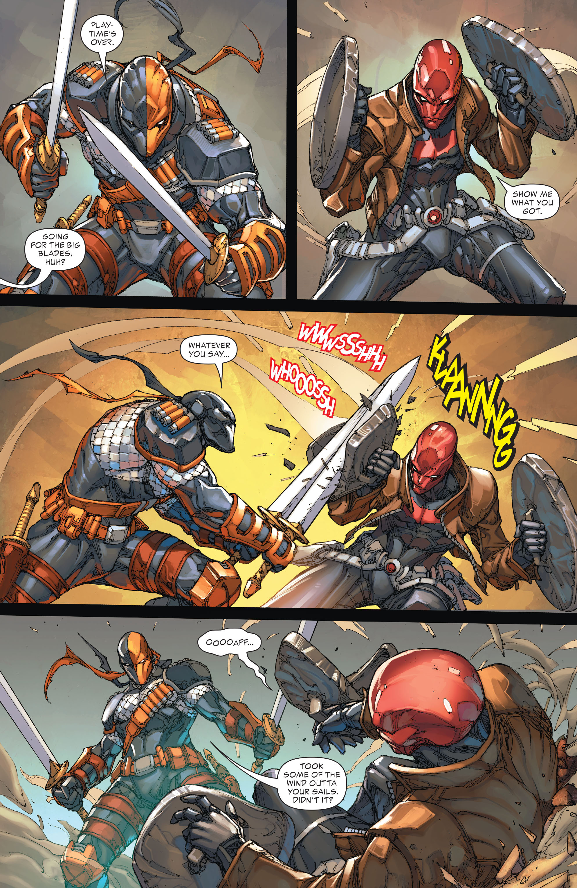 Deathstroke vs Red Hood