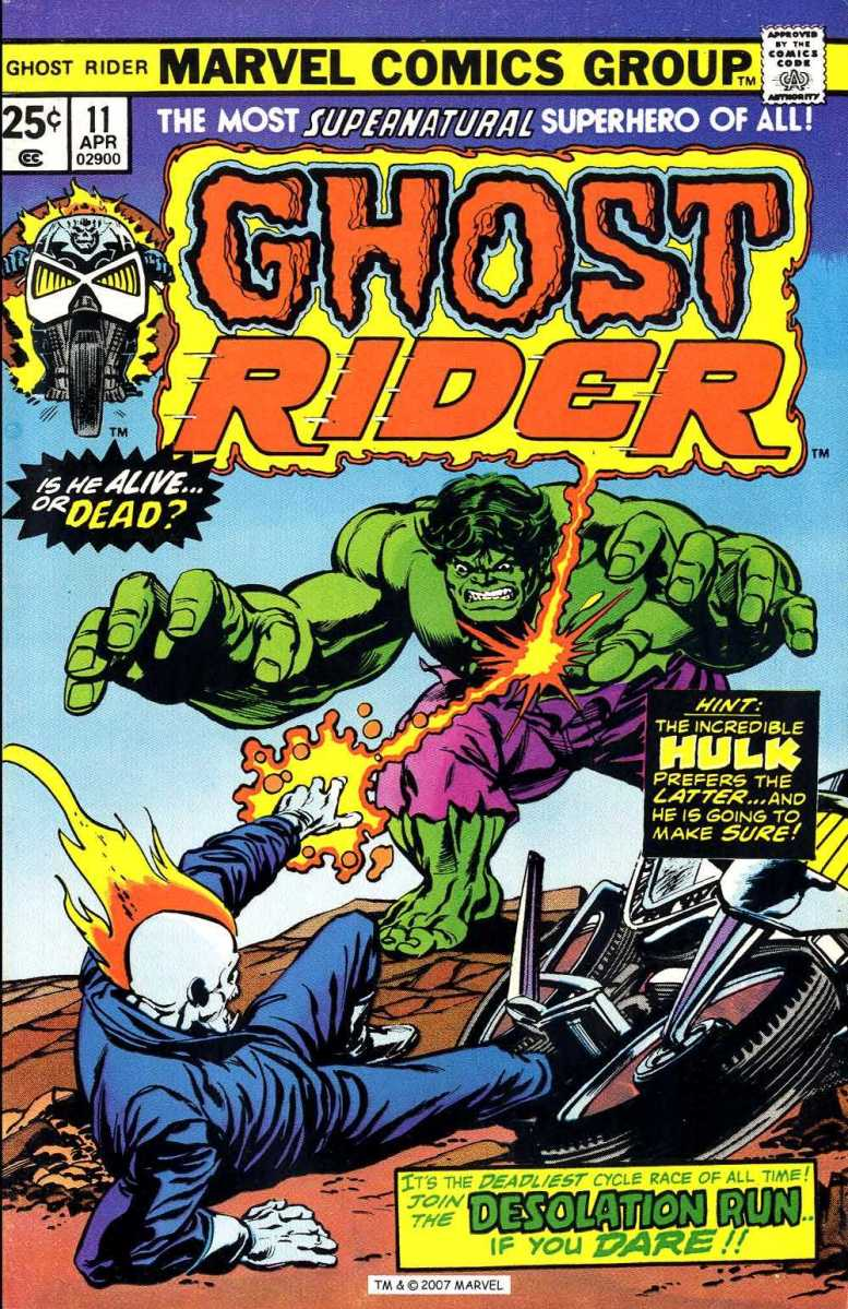 Ghost Rider vs. The Incredible Hulk (Ghost Rider Vol. 1 #11, 1975)