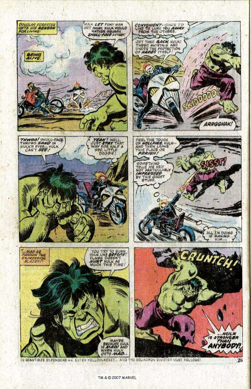 Ghost Rider vs. Hulk