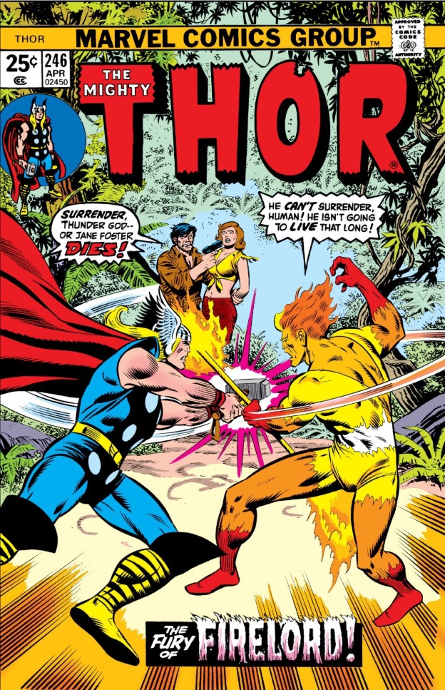 the mighty thor vs firelord the mighty thor 246 1976