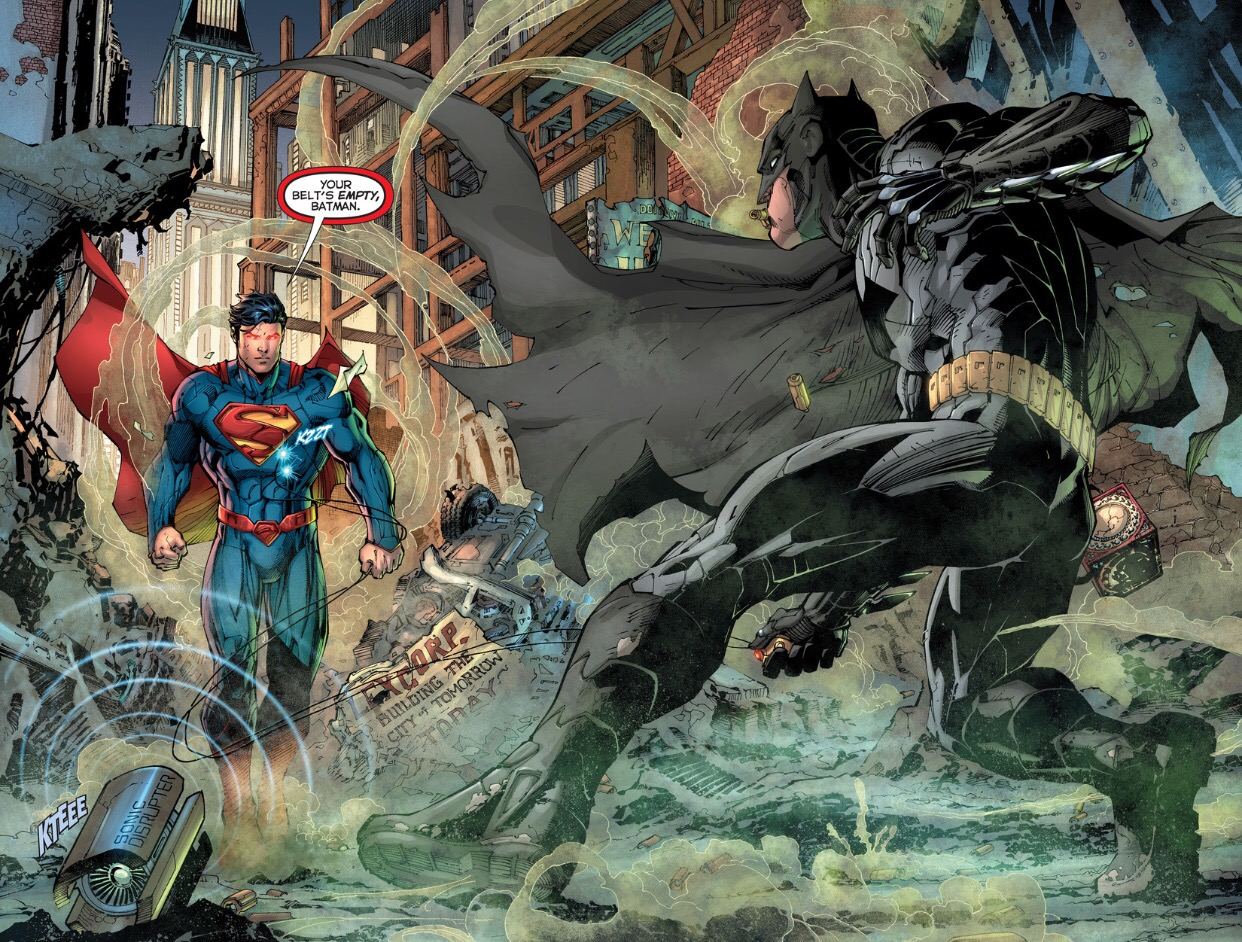 superman vs green lantern and batman relationship