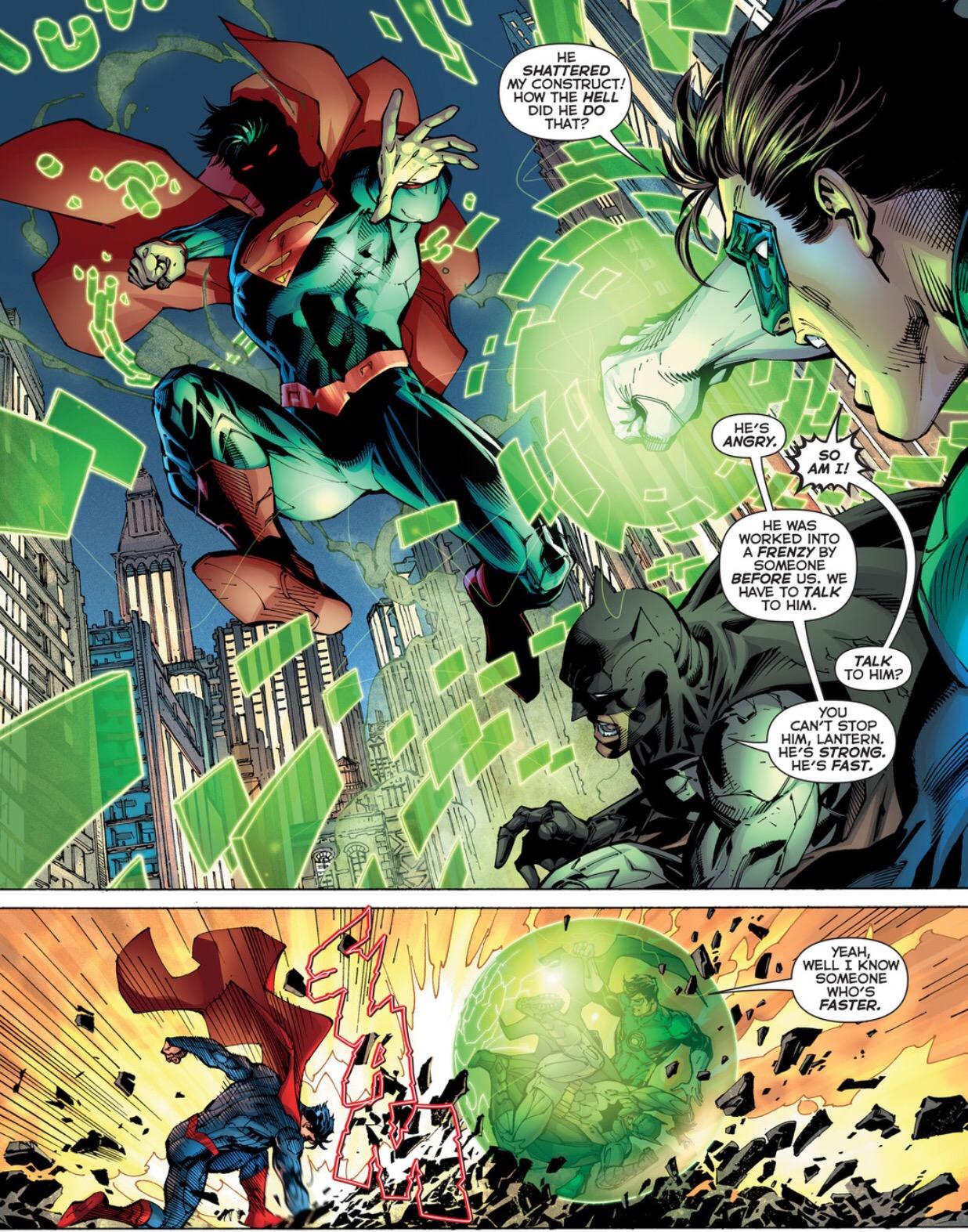 Superman vs green lantern - photo#13