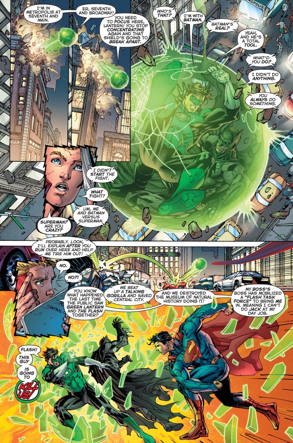 batman green lantern vs superman lowbrowcomics