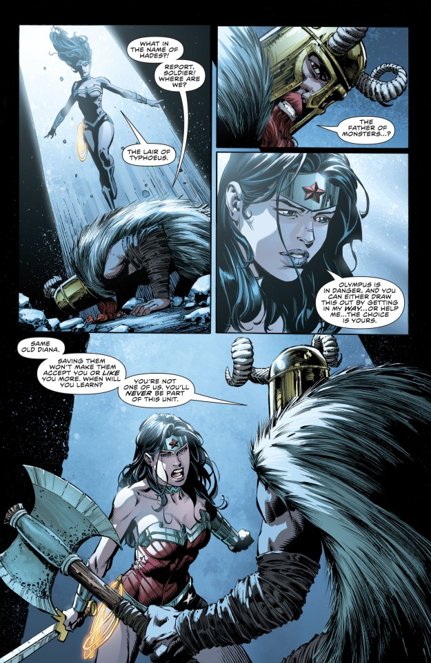 Wonder Woman fights Ares