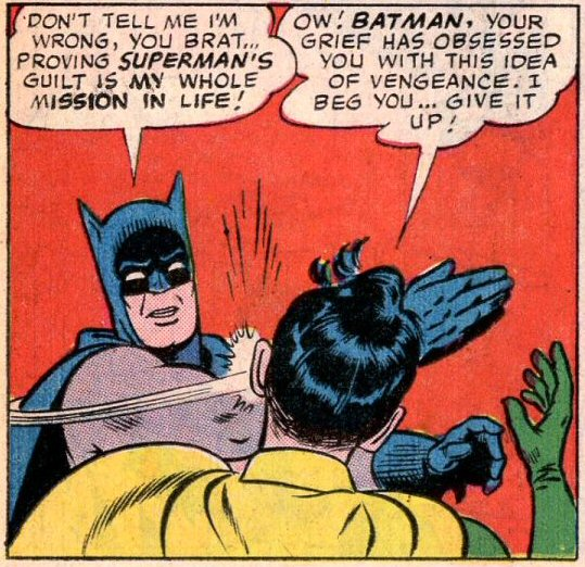 Batman slapping robin meme