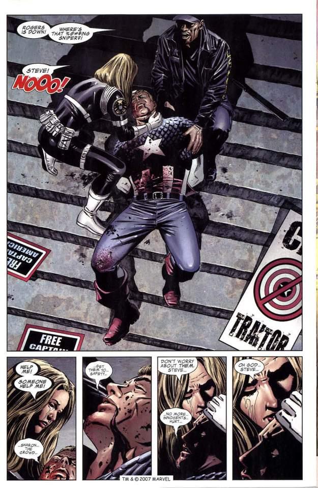 captain america dies