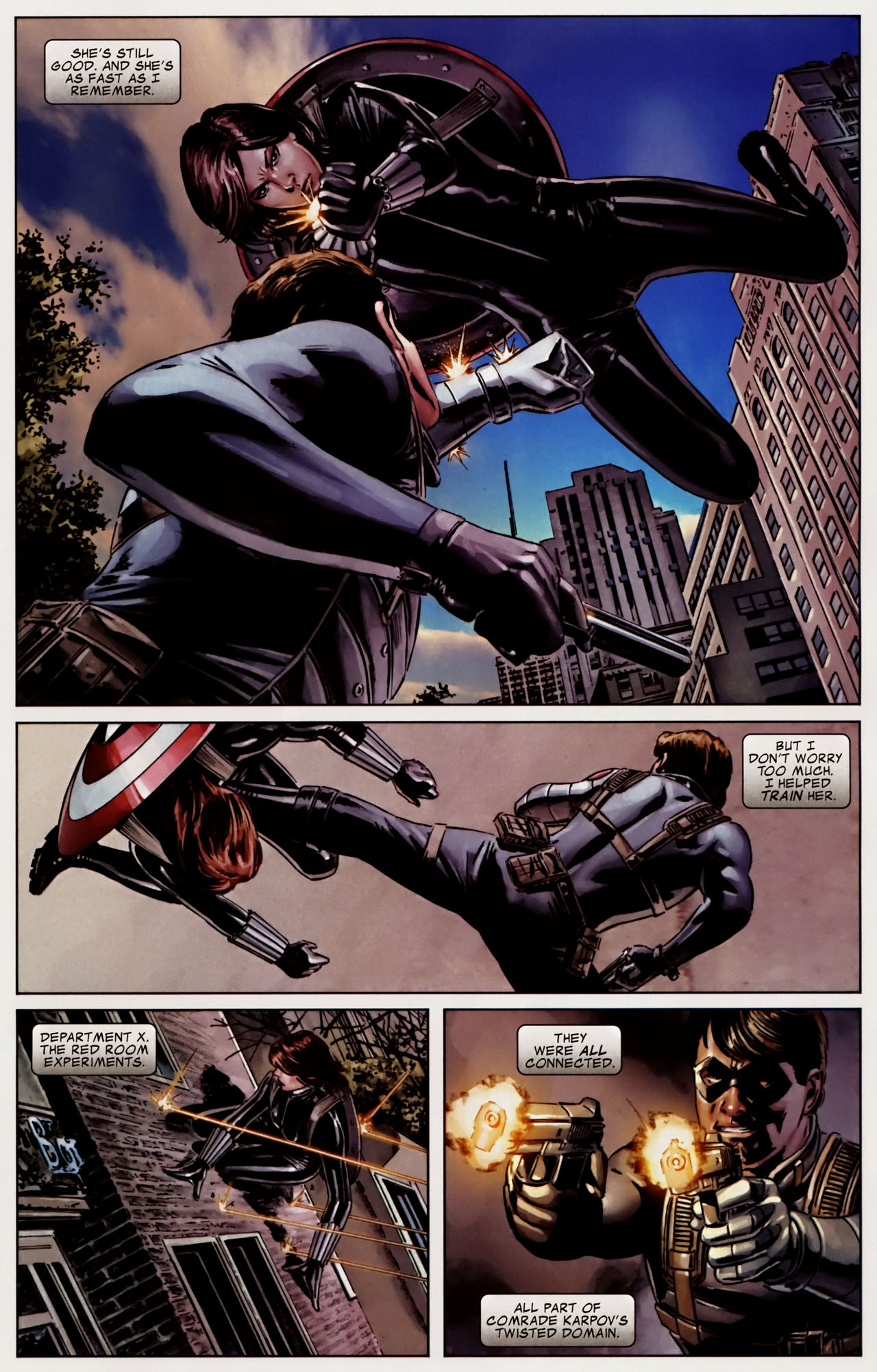The Winter Soldier vs  Black Widow – The Battle for Captain
