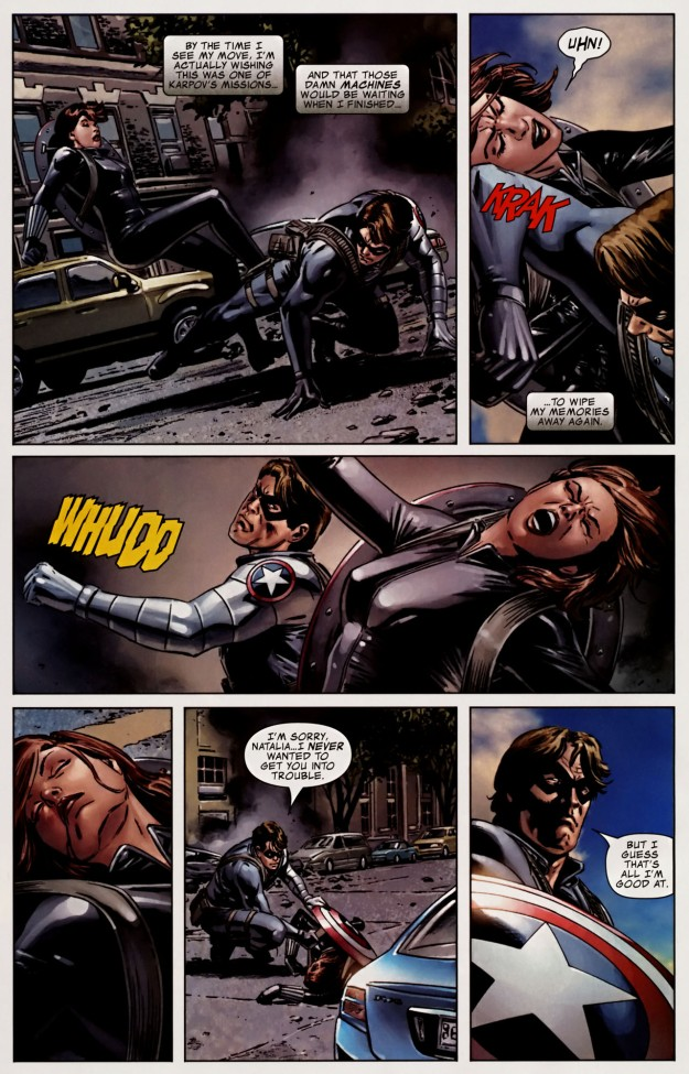 bucky vs. black widow