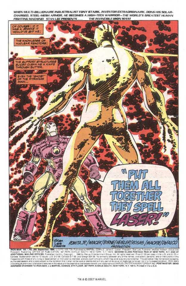 Iron Man fights Living Laser
