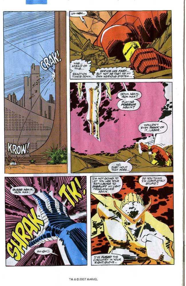 Iron Man vs. Living Laser