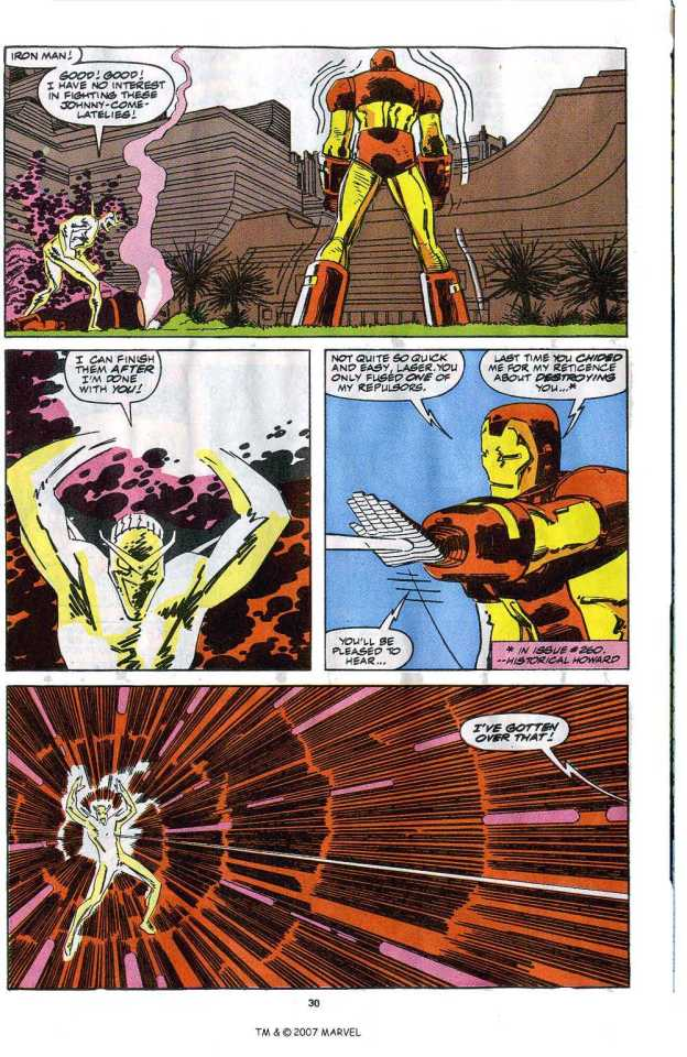 Iron Man vs. Living Laser