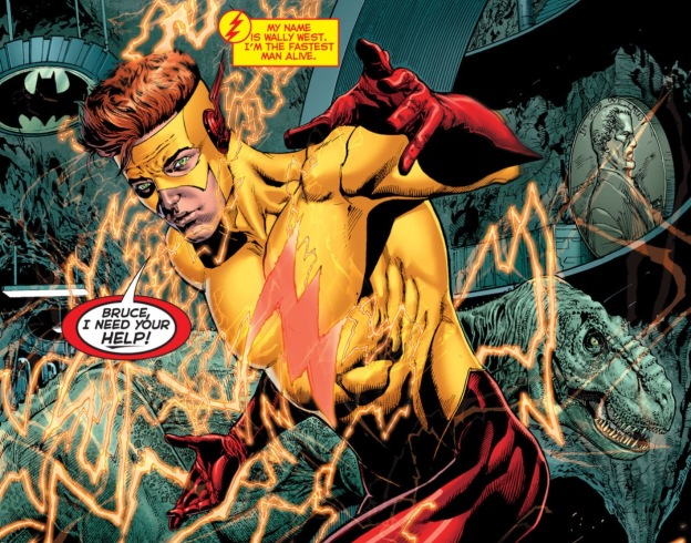 Wally West tries to warn Batman... (DC Rebirth #1)