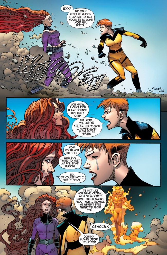 crystal finds out about medusa and johnny storm