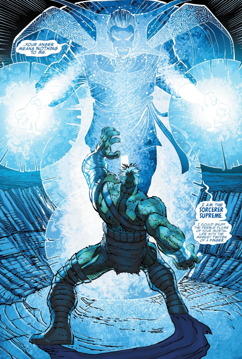 The Incredible Hulk vs. Dr.  Strange (World War Hulk)