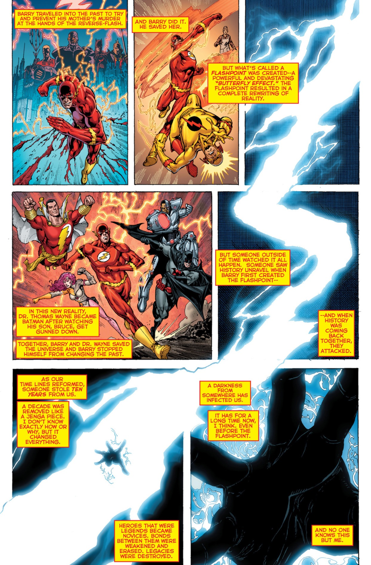 DC Rebirth Wally West travels back in time