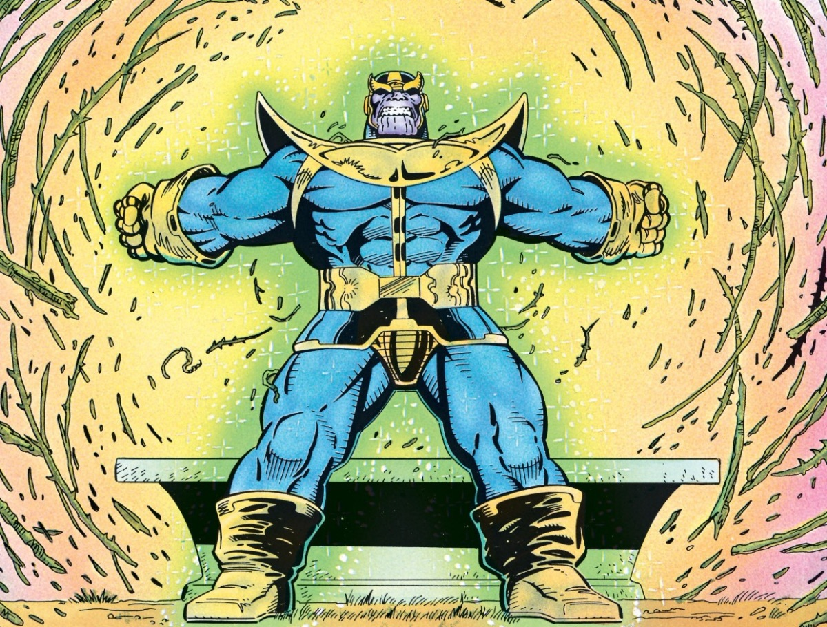 Thanos takes the Time Stone from The Gardner. (Thanos Quest)