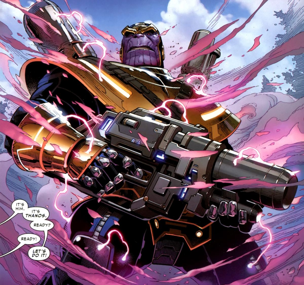 War Machine, Captain Marvel, She-Hulk and Black Panther vs. Thanos (Civil War II)