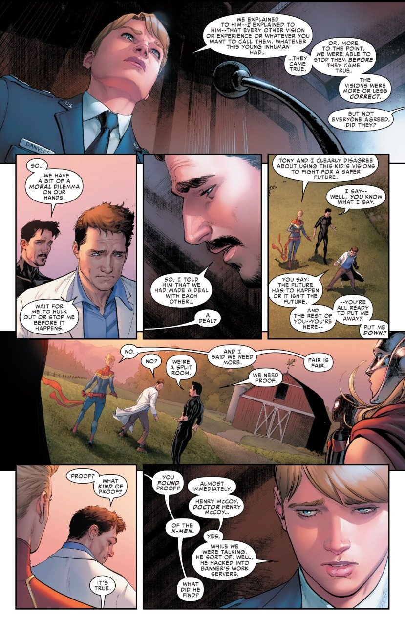 Tony Stark, Carol Danvers Civil War 2, Marvel
