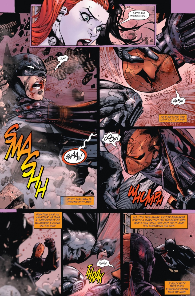 Batman fights Deathstroke Ben Affleck Batflek