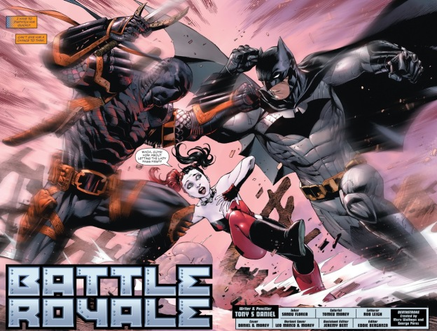 Batman fights Deathstroke Ben Affleck Batflek Arkham Origins