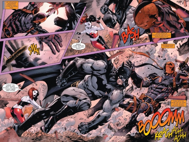 Batman fights Deathstroke Ben Affleck Batflek