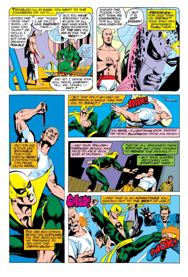 How did Iron Fist get his chest tattoo?