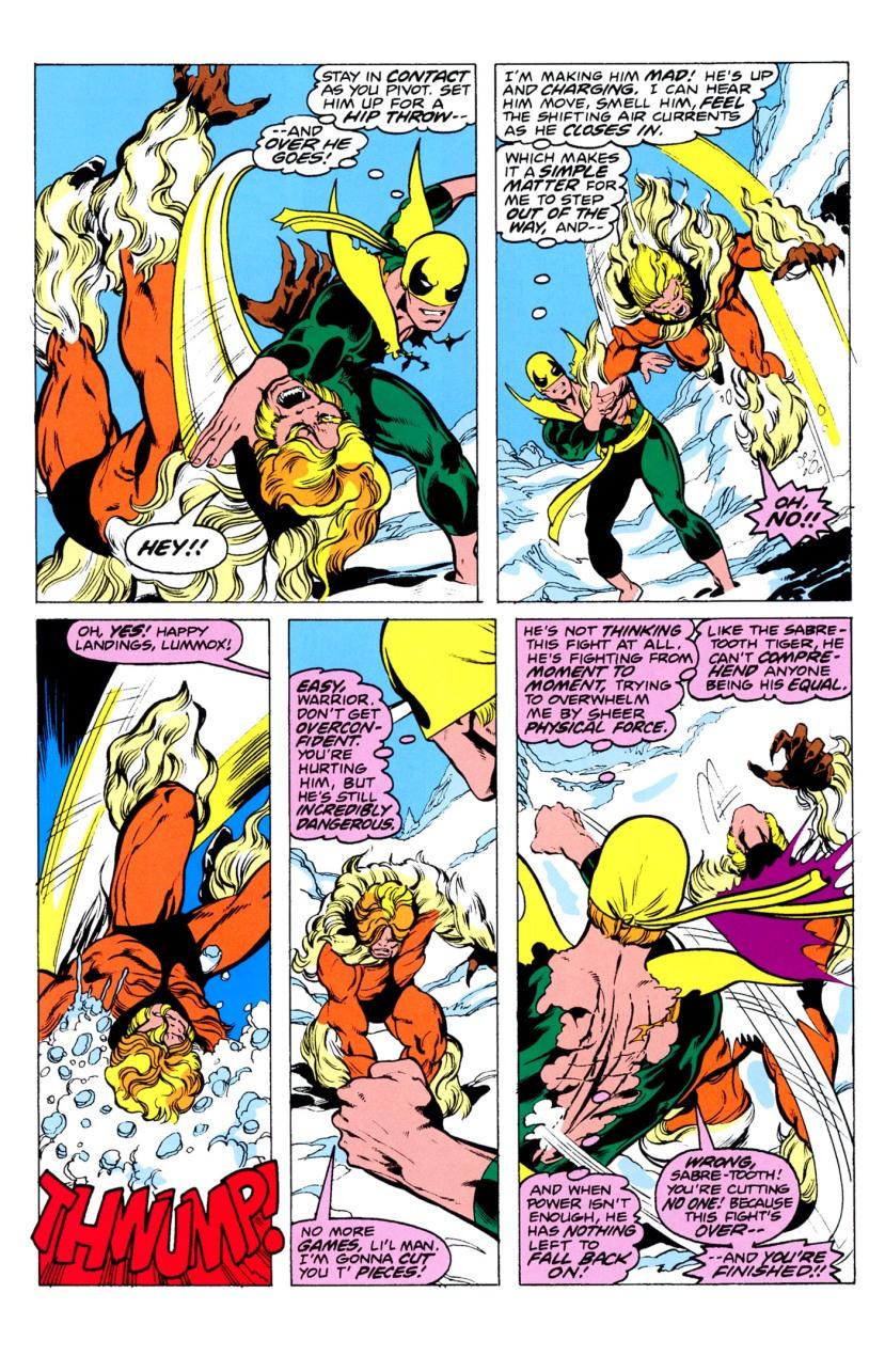 Iron Fist vs. Sabertooth