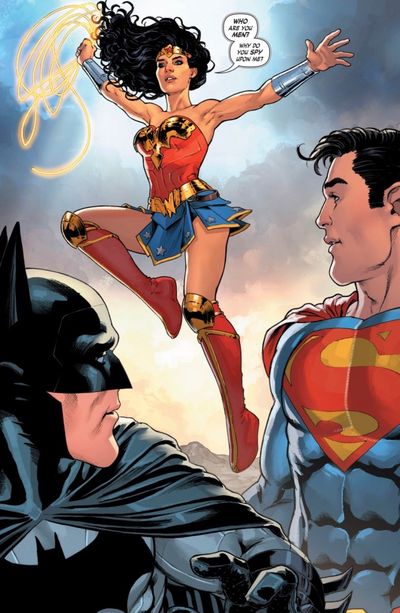Wonder Woman Saves Batman Scene