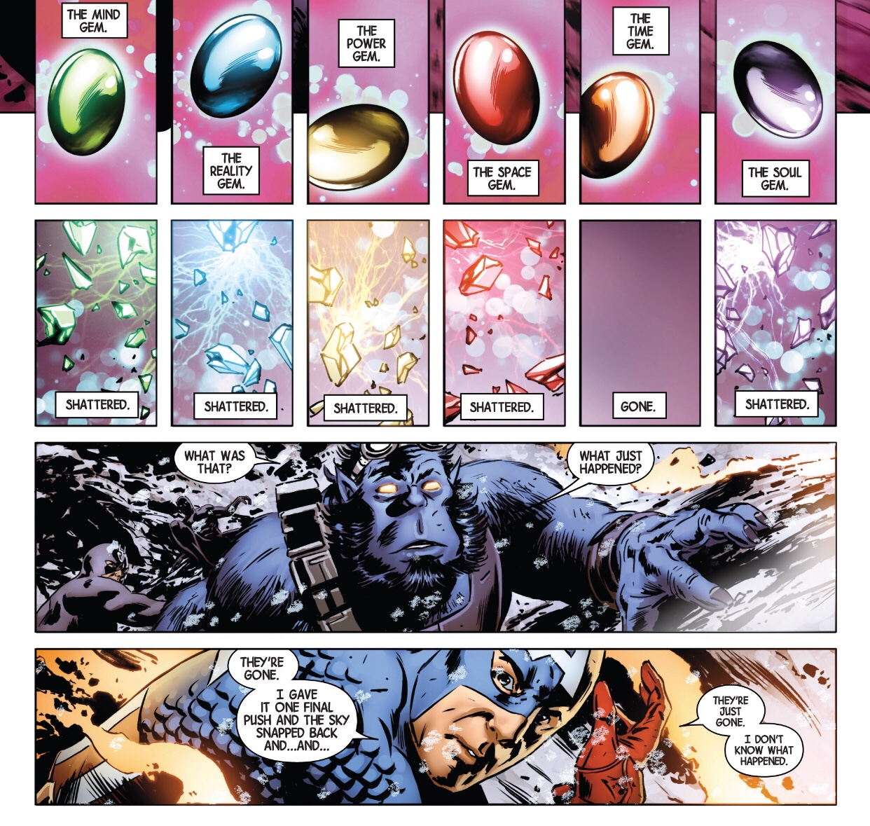 Infinity gems destroyed