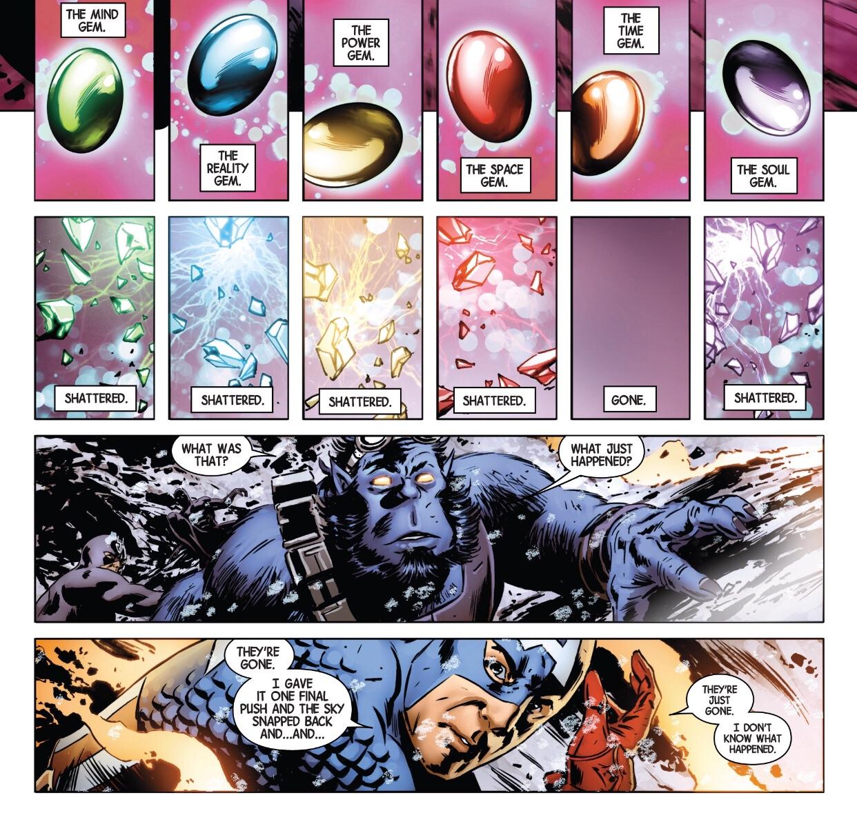 Infinity gems destroyed