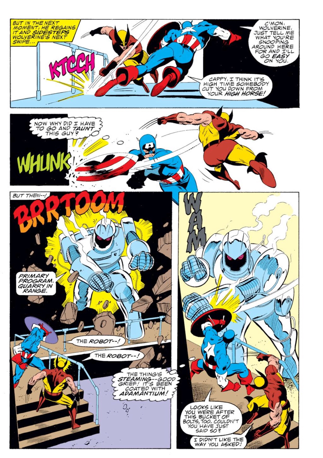 Captain America fight Wolverine