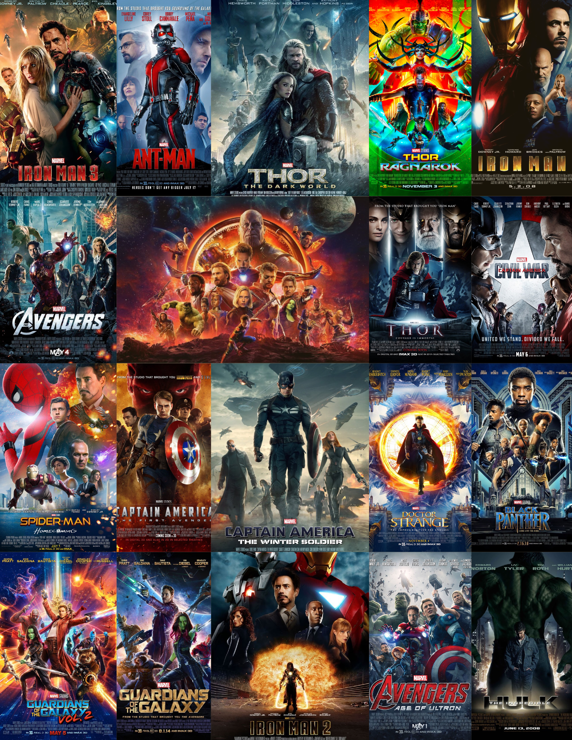 Marvel Cinematic Universe Movie Posters