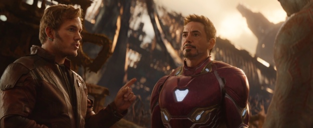 avengers infinity war chris pratt talks to robert downey jr.