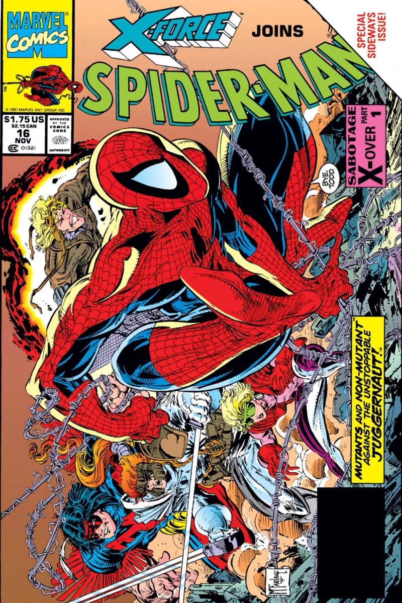 Spider-Man & X-Force vs. The Juggernaut (Spider-Man #16, 1991)
