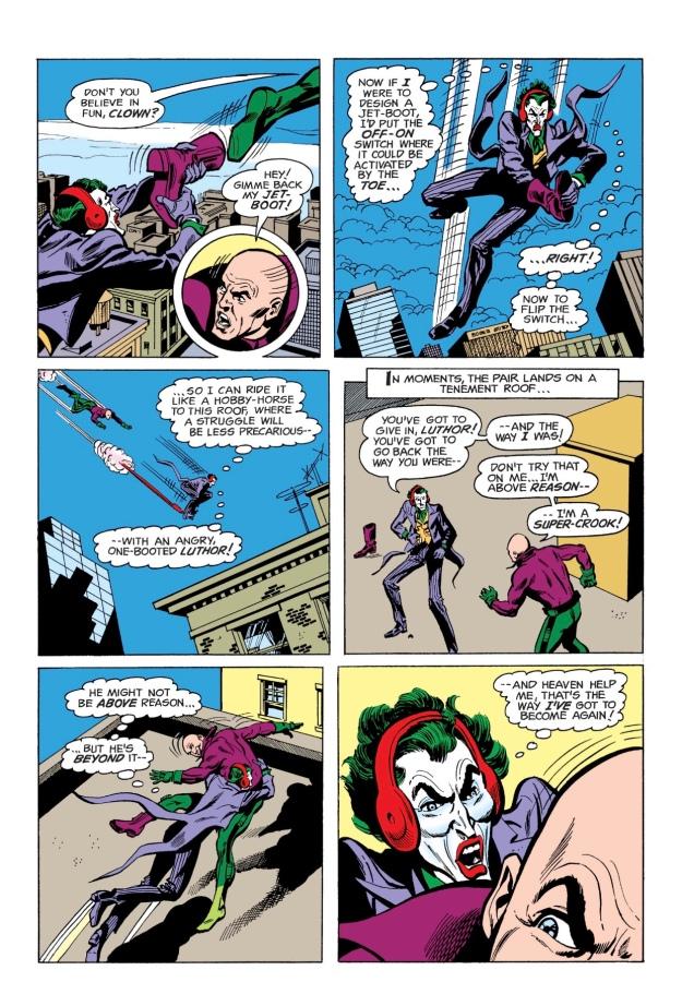 Joker goes sane